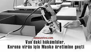 Vanhaber - Van'daki hükümlüler, Korona virüs için Maske üretimine geçti