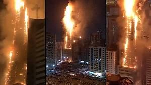 250 ailenin kaldığı bina yandı