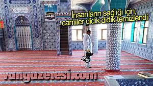 İnsanların sağlığı için camiler didik didik temizlendi