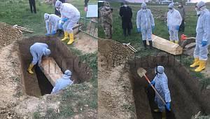 Van'da ilk kez koronavirüs gömülme anı gösterildi – COVİD – 19 Van'da artıyor