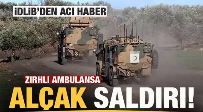 Bakanlıktan Acı Haber - Zırhlı ambulansa saldırı! - 1 Askerimiz şehit