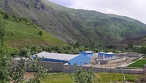 Çatakta atık su arıtma tesisi devam ediyor