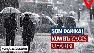 Evden çıkarken Dikkat! Kuvvetli yağış uyarısı