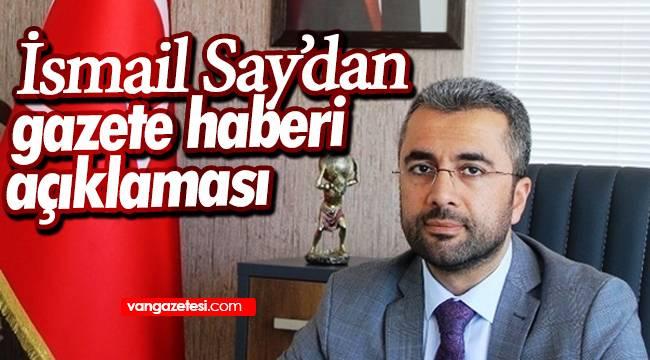 İsmail Say'dan gazete haberi açıklaması