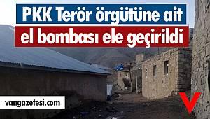 PKK Terör örgütüne ait el bombası ele geçirildi - Van haber