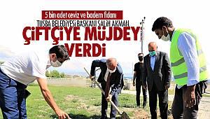 Salih Akman, Çiftçilere müjdeyi verdi - 5 bin adet ceviz ve badem fidanı