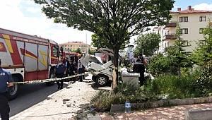 Trafik kazası: 1 ölü – 1 yaralı – Çarpmanın etkisiyle uçtu