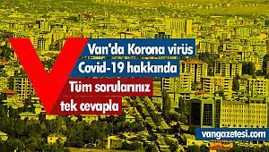 Van'da Korona virüs Covid-19 hakkında - Van'ın son durumu için tıkla!