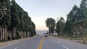 Van Muradiye'de 20 kilometre yol çizgisi