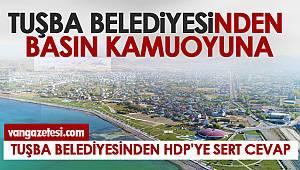 Van Haber - Van Tuşba Belediyesinden HDP'ye sert cevap
