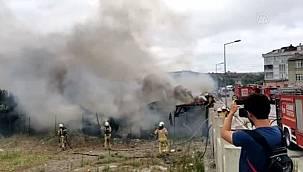 Binlerce İşçinin kaldığı konteynerde yangın