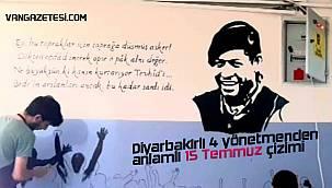 Diyarbakırlı 4 yönetmenden anlamlı 15 Temmuz çizimi - Özel Haber