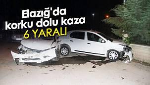 Elazığ'da korku dolu kaza - 6 yaralı