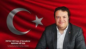 Memur-Sen Van il Temsilcisi Mehmet Ali Uca, 'Demokrasi nöbetlerinde de milletimizle kol kola olduk'