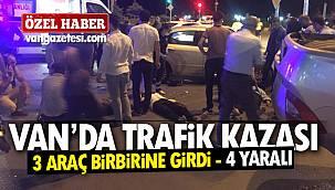 Son dakika! Van'da trafik kazası – 3 Araç birbirine girdi - 4 yaralı - Özel Haber