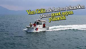 Van'da batan teknede ceset sayısı yükseldi