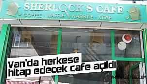 Van'da herkese hitap edecek cafe açıldı – Genç kadın girişimciden Sherlocks's Cafe