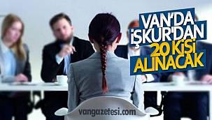 Van'da İŞKUR'dan 20 kişi alınacak