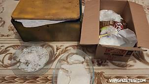 Van'da kedi mamasının içinde uyuşturucu, tabanca ve yetmedi