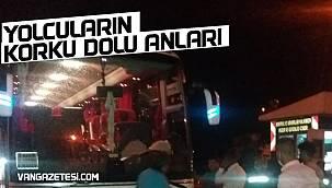 Van'dan Gaziantep'e giden yolcu otobüsü arızalandı - Yolcuların korku dolu anları