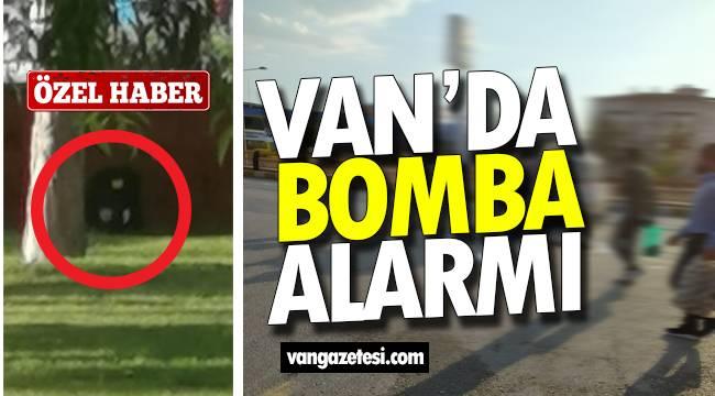 Van haber – Van'da bomba alarmı! Kurtuluş Parkında korku dolu anlar