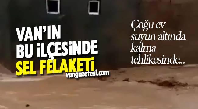 Van haber - Van'ın bu ilçesinde sel felaketi - Sel evlere zarar verdi - Videolu