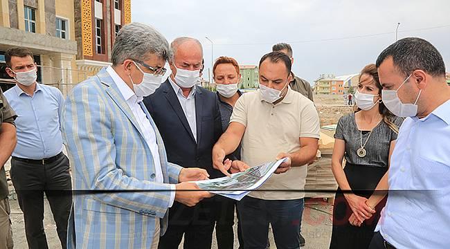 Van Valisi Mehmet Emin Bilmez Tuşba'da incelemelerde bulundu
