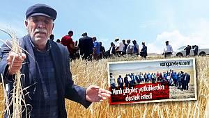 ÖZGÖKÇE VE ZİRAAT MÜHENDİSLERİ SAHADA - Van'da çiftçilere moral desteği