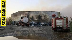 Adana'da fabrikada flaş yangın - Görenler korkuyla yaklaşamadı