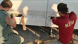 Van'da marşpiyel boşluklarına eroin sevkıyatı - Videolu
