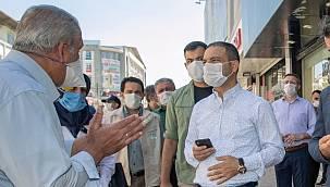 Van'ın İpekyolu'nda korona virüs denetimi