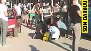 Van Maraş Caddesinde feci trafik kazası! Yaşlı adama çarparak...