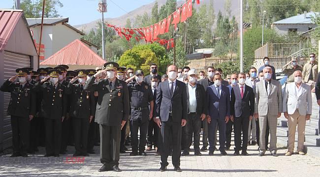Başkale Kaymakamı Gaziler Günü töreni