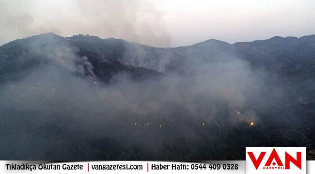 Dağda feci yangın devam ediyor