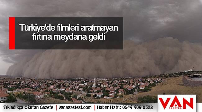 Türkiye'de filmleri aratmayan fırtına meydana geldi