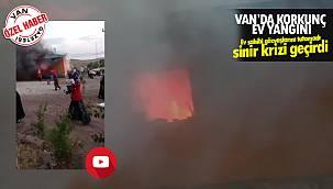 Van'da korkunç ev yangını ve komşular ise... Ev ve Ahır kullanılamaz halde - Videolu