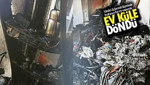 Van'ın Edremit ilçesinde bulunan bir ev, yanarak küle döndü – İşte detaylar