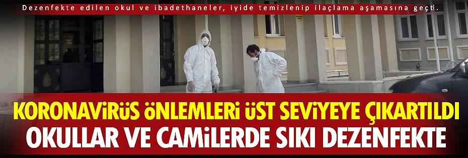 Van'ın okulları ve camilerinde sıkı dezenfekte çalışması