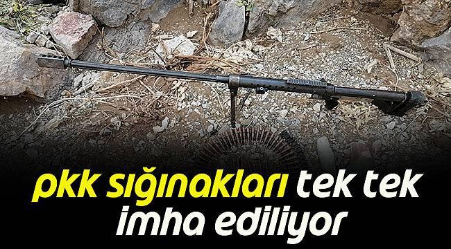 PKK Sığınakları Tek Tek İmha Ediliyor