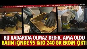 Van'da balın içine 95 Kilo 240 Gr Eroin Çıktı - 1 tutuklama