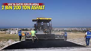 Van'da eğitim kurumlarına 2 bin 200 ton asfalt