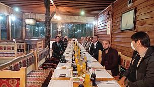 VATSO Başkanı ve Yönetimi Şifa Alabalık tesisinde Sinan Vardal'ı ağırlandı