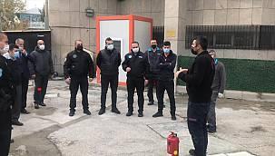 Merkez Bankası personellerine yangına müdahale eğitimi