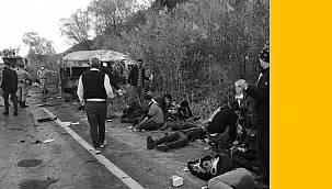 Van Erciş karayolu üzerinde feci kaza - Çok sayıda ölü ve yaralı var