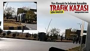 Van Kampüs kavşağında trafik kazası – 2 araç birbirine girdi
