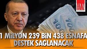 1 milyon 239 bin 438 Esnafa Destek Sağlanacak