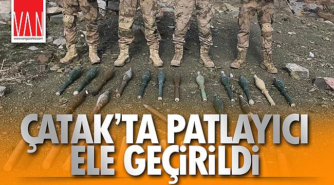 ÇATAK'TA PATLAYICI ELE GEÇİRİLDİ