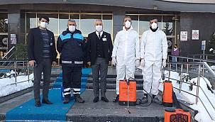 Hastaneler Bir Bir Dezenfekte Ediliyor