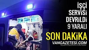 İşçi Servisi devrildi - 9 yaralı