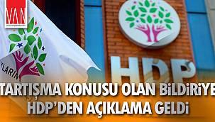 Tartışma Konusu Olan Bildiriye HDP'den Açıklama Geldi